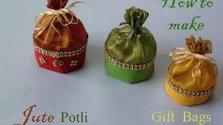 Download How to make jute potli gift bag Video