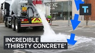 Download New 'thirsty' concrete absorbs water Video