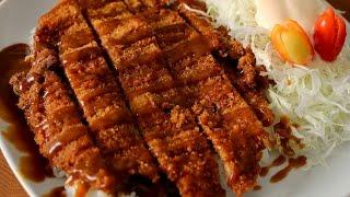 Download Korean style pork cutlet (Donkkaseu: 돈까스) Video