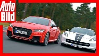 Download Audi TT RS vs Corvette C7 Stingray (2016) - Maßanzug gegen Muskelshirt - Test/Vergleich/Review Video