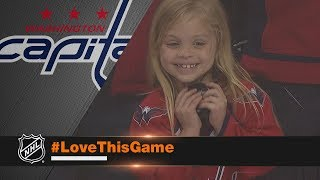 Download Young girl overjoyed after receiving puck from Brett Connolly Video