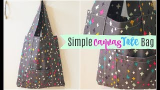 Download TUTORIAL   Simple Canvas Tote Bag Video