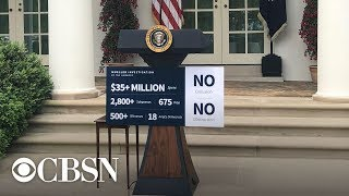 Download President Trump is making an impromptu announcement from the White House Rose Garden, live stream Video