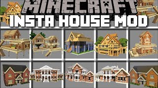 Download Minecraft INSTANT HOUSE MOD / BUILD INSTANT STRUCTURES IN SECONDS!! Minecraft Video