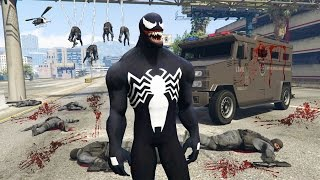 Download GTA 5 Mods - SPIDERMAN ″VENOM″ MOD w/ WEB SHOOTER! GTA 5 Venom Mod Gameplay! (GTA 5 Mods Gameplay) Video