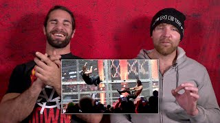 Download Seth Rollins and Dean Ambrose rewatch their Hell in a Cell war: WWE Playback Video