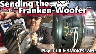 Download Sending the Franken-Woofer! Play it till it SMOKES! Lots of POWER at 8hz + Bonus SPARKS! Video