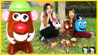 Download Learn with Mr Potato Head Toy Hunt Outdoor & Body Part Names for Kids with Princess ToysReview Video