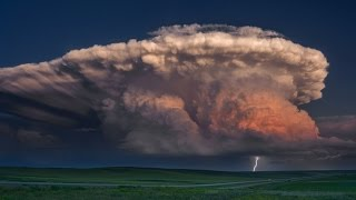 Download A STORM OF COLOR Time Lapse - Isolated Supercell, tornado, rainbow and lightning storm Video