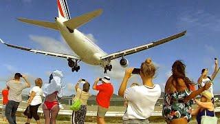 Download Plane spotting at SXM St. Maarten - Special Air France A330 with multiple landings and take-offs Video