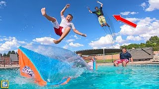 Download GIANT Water Blob Swimming Pool Launcher vs Carter Sharer! Video