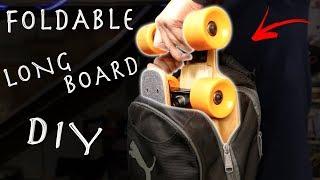 Download DIY $20 Foldable Longboard! Super Portable Longboard Hack!!! Video