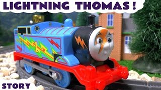 Download Thomas and Friends Lightning Thomas with Avengers Thor and Iron Man Family Fun Toys Video