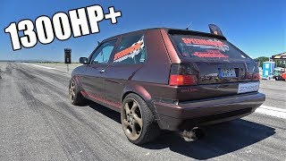 Download 1300HP+ Volkswagen Golf 2 in Action! FASTEST Golf 2 in the World! Video