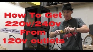 Download How To Get 220V/240V From Two 120V Outlets. No Electrical Panel Work Required... Video