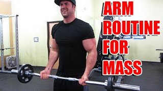 Download Killer Arm Routine for Building Mass - Supersets & Dropsets working Biceps and Triceps Video