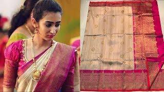 Download Pure Handloom Banarasi Kadiyal Tussar Silk Saree with Price | Million Designs | TM Video