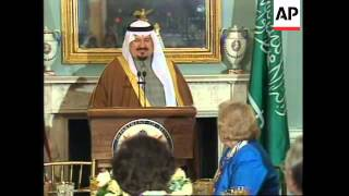 Download USA: WASHINGTON: SAUDI ARABIA'S DEFENCE MINISTER PRINCE SULTAN VISIT Video