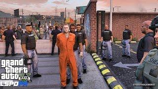 Download GTA 5 LSPDFR 0.3.1 - EPiSODE 313 - LET'S BE COPS - U.S. MARSHALS (GTA 5 PC POLICE MODS) PRISON BREAK Video