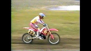 Download Practicing on my 1990 Honda CR250R at Ross Bartlett's track in 1994 Video