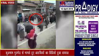 Download Footage of Militants escaping from Kulgam Encounter site goes viral Video