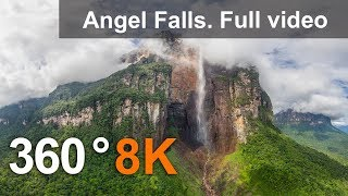 Download 360°, Angel Falls, Venezuela. Aerial 8K video Video