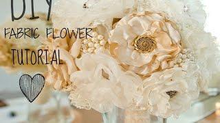 Download #1 BEST FABRIC FLOWER TUTORIAL!! (BURNING METHOD) Video