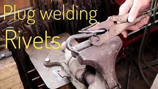 Download Plug welded rivets - basic blacksmithing Video