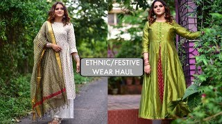 Download ETHNIC WEAR HAUL ft. MAX,RELIANCE...| INDIAN FESTIVE LOOKBOOK| GoGlam Video
