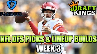 Download Week 3 NFL FanDuel & DraftKings Picks - Lineup Strategy Video