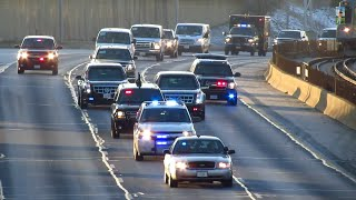 Download President Barack Obama's Motorcade on the Kennedy Expressway in Chicago ( I-90 ) [11.25.2014] Video