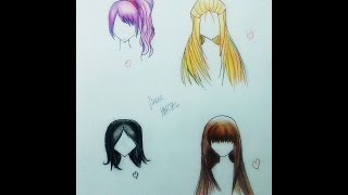 Download Anime 4 Farklı Saç Çizimi | How to Draw Anime Hair Video