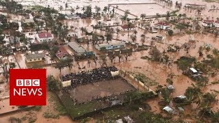 Download Cyclone Idai: Flying over flooded Mozambique - BBC News Video