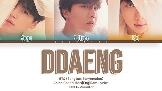 Download BTS RM, SUGA, J-HOPE - DDAENG (땡) (Color Coded Lyrics Eng/Rom/Han+Español) Video