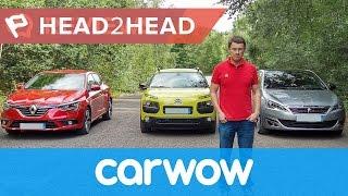 Download Renault Megane vs Peugeot 308 vs Citroen C4 Cactus 2017 review | Head2head Video
