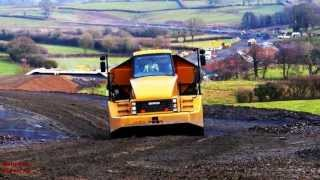 Download Llanddowror By-Pass (12) - Dump Trucks Struggle! John Deere and MF Tractors, too. Video