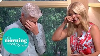 Download Holly And Phillip Get The Giggles And End Up Crying With Laughter | This Morning Video