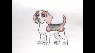 Download วาดรูป บีเกิล How To Draw Cute Beagle Dog Cartoon Easy for Kids Step by Step Coloring Pages Video