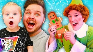 Download Decorating Giant Gingerbread Cookies! ✨ (W/ Buddy the ELF!!!) Video