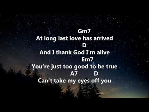 Can't Take My Eyes Off You - Frankie Valli - Lyrics & Chords
