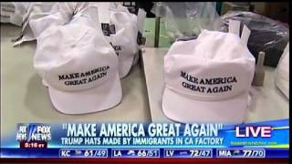 Download ″Make America Great Again″ - Trump Hats Made By Immigrants In California Factory - Fox & Friends Video