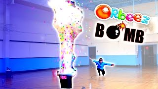 Download How to make a GIANT ORBEEZ BOMB with Liquid Nitrogen! 30,000 Orbeez Science Experiment Challenge! Video