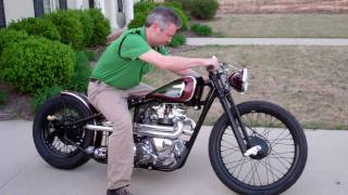 Download Kustom 1969 Triumph Bobber ″Black Adder″, built by Dan Patterson of Angry Monkey Motorcycles Video