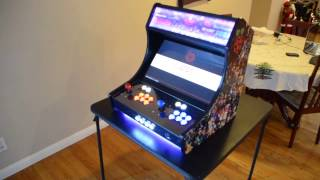 Download Raspberry Pi 3 RetroPie Bar Top Arcade Cabinet Build Rey's 128 GB image Finished! Video