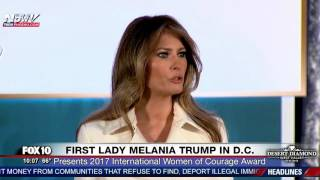 Download RARE SPEECH: First Lady Melania Trump Speaks at State Dept. International Women of Courage Awards Video