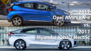 Download 2017 Opel AMPERA-e vs. 2017 Hyundai IONIQ electric (technical comparison) Video