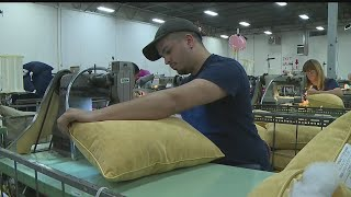 Download JobsNOW: Pillow maker looking for hard-working employees Video