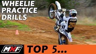 Download Top 5 Dirt Bike Wheelie Practice Drills - How to Wheelie Better Quickly!! Video