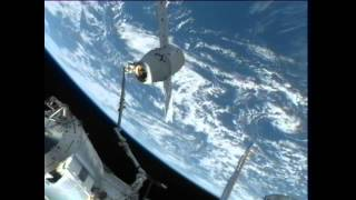Download Dragon Grappled and Berthed to Station Video