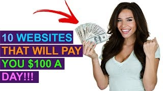 Download 10 Websites You Can Make $100 A Day From Online! (No Special Skills) Video